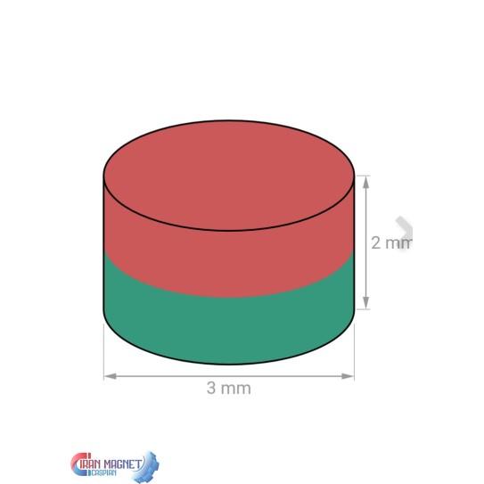 آهن ربا 2×3 گرید 42