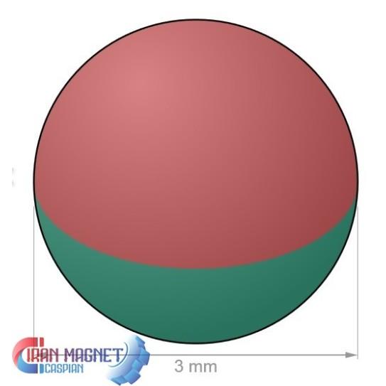 آهنربای کروی 3mm گرید35