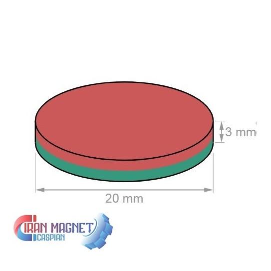 آهنربای سرامیکی3*20