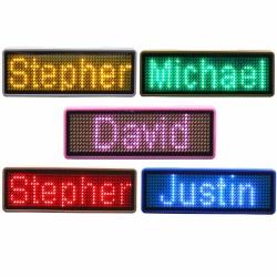اتیکت سینه الکترونیکی Led Badge Name