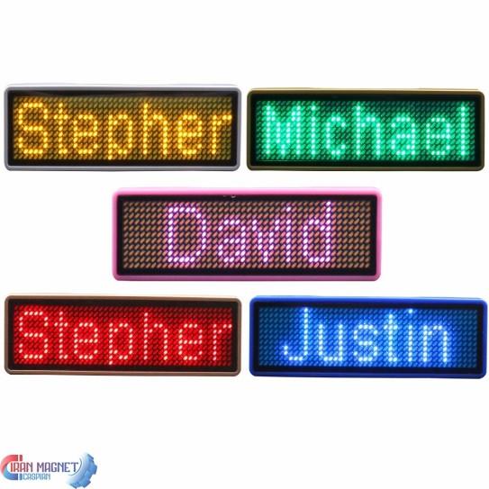 اتیکت سینه الکترونیکی بلوتوث دار Led Badge Name